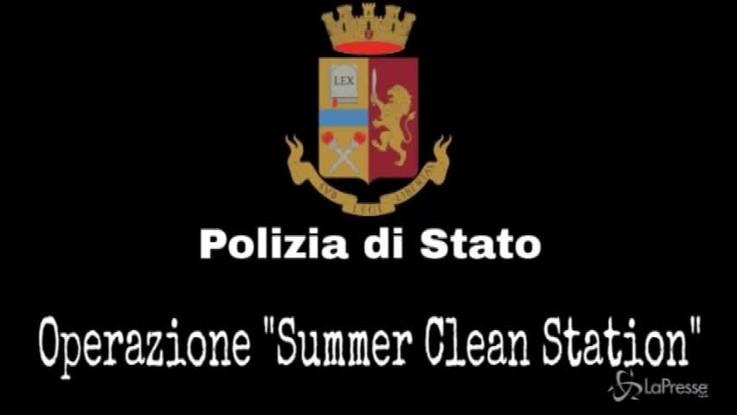 Sicurezza, conclusa operazione 'Summer clean station': 9 arresti e 35 indagati