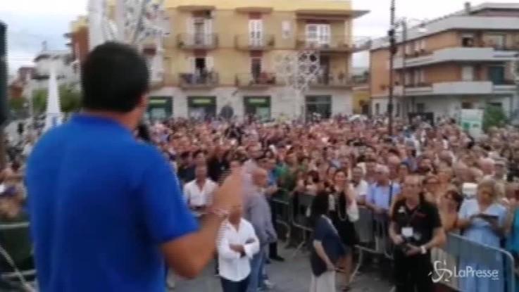 """Annuncio contro i Rom, Salvini: """"Capotreno andrebbe premiata"""""""