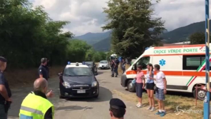 Juve, l'arrivo del pullman a Villar Perosa