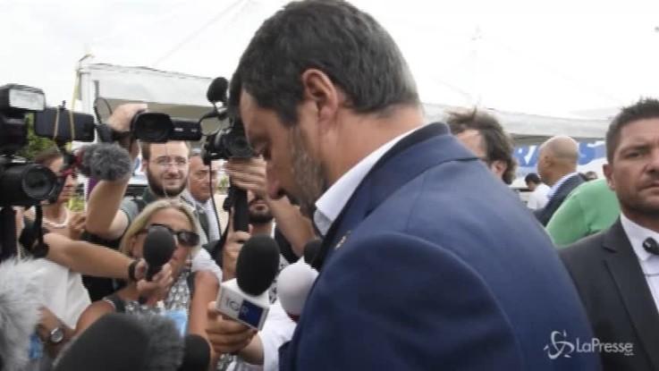 """Crollo del Ponte a Genova, Salvini: """"Nomi e cognomi di chi è colpevole"""""""