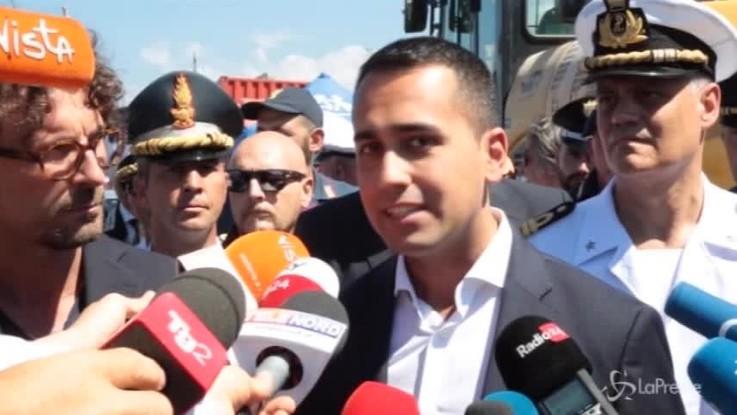 """Genova, Di Maio: """"Autostrade coperta da governi precedenti. Noi non faremo da palo"""""""