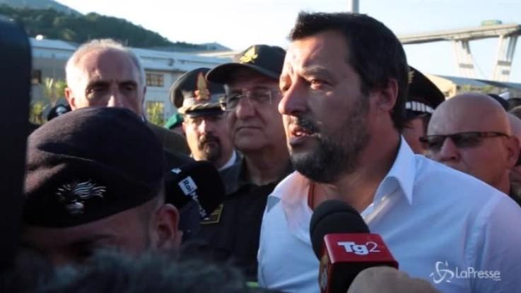 """Salvini: """"Non sarà una strage all'italiana, chi ha sbagliato pagherà"""""""
