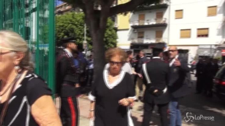 Il silenzio commosso di Maria Falcone ai funerali di Rita Borsellino