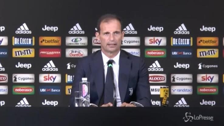 """Genova, Allegri: """"Juventus in campo con rispetto"""""""