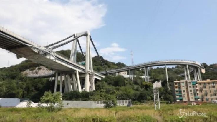 Genova, si continua a monitorare la stabilità di ciò che resta del ponte Morandi