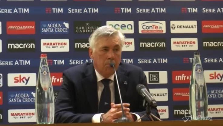 """Napoli, Ancelotti: """"La reazione dopo il gol? Una cosa positiva"""""""