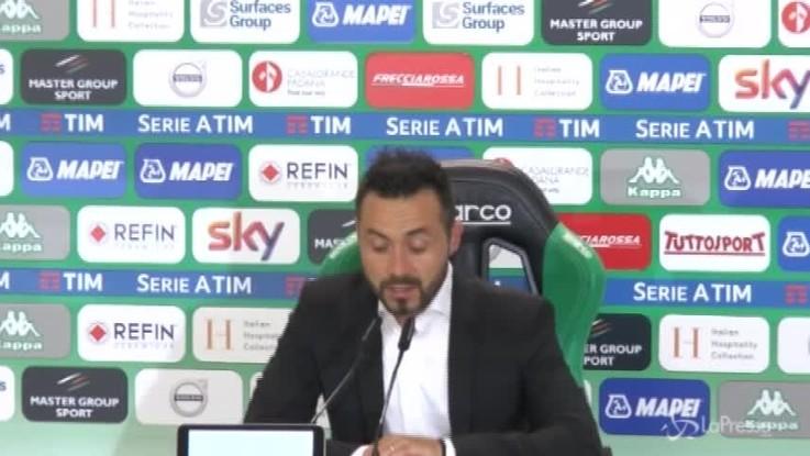"""Sassuolo, De Zerbi: """"Non me l'aspettavo, ma lo sognavo"""""""