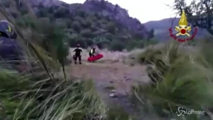 Escursionisti, il salvataggio dei vigili del fuoco a Raganello