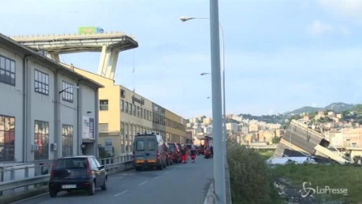 Genova, pericolante il moncone sinistro del ponte