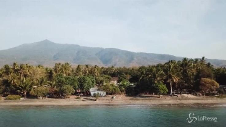 Terremoto a Lombok, le immagini dall'alto