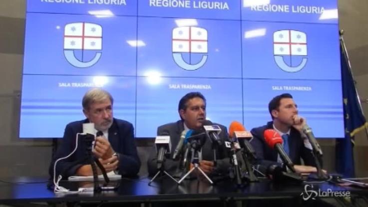 """Genova, Toti: """"Entro cinque giorni il piano di autostrade per abbattere il ponte"""""""