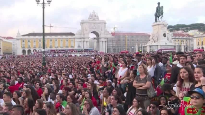 Russia 2018, gioie e dolori, tutte le emozioni dei portoghesi in piazza