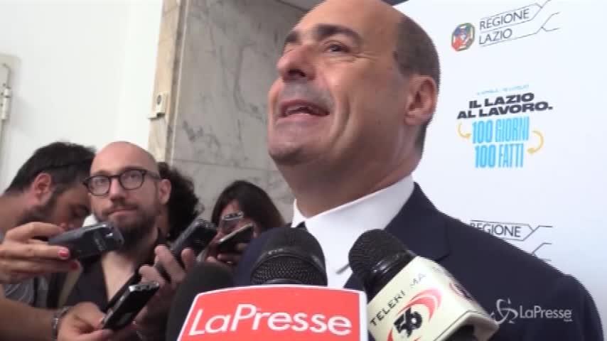 """I 100 giorni del Lazio di Zingaretti: """"Soddisfatto per i risultati"""""""