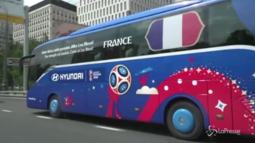La Francia di Deschamps arriva a Mosca in vista della finale