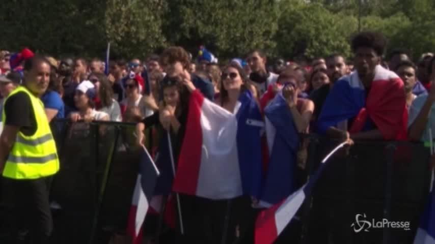 Mondiali, Francia-Croazia 1-0: l'urlo dei tifosi a Parigi