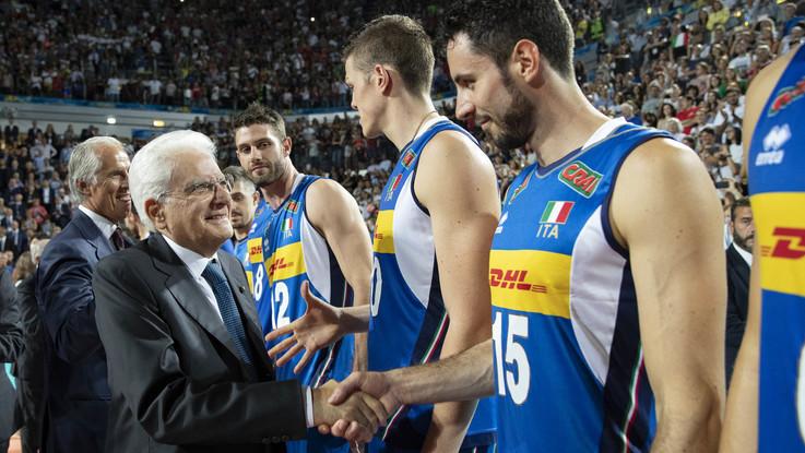 mondiali volley Zaytsev italia mattarella