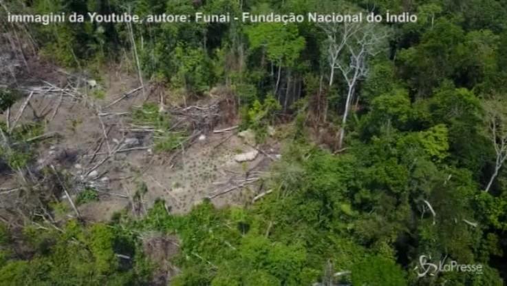 Amazzonia, drone svela tribù rimasta isolata