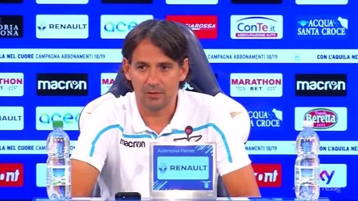 """Inzaghi: """"Con Lotito normale confronto allenatore-presidente"""""""