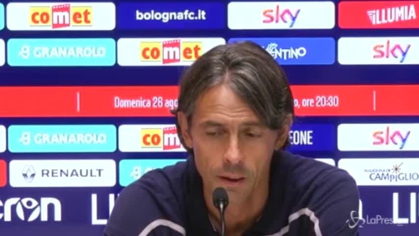 """Bologna, Inzaghi: """"La telefonata di Lotito? Volevano un mio collaboratore"""""""