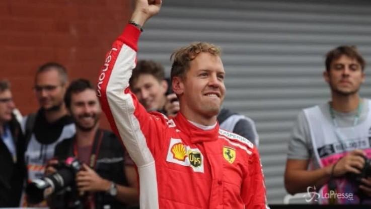 Formula Uno, la Ferrari di Vettel trionfa in Belgio