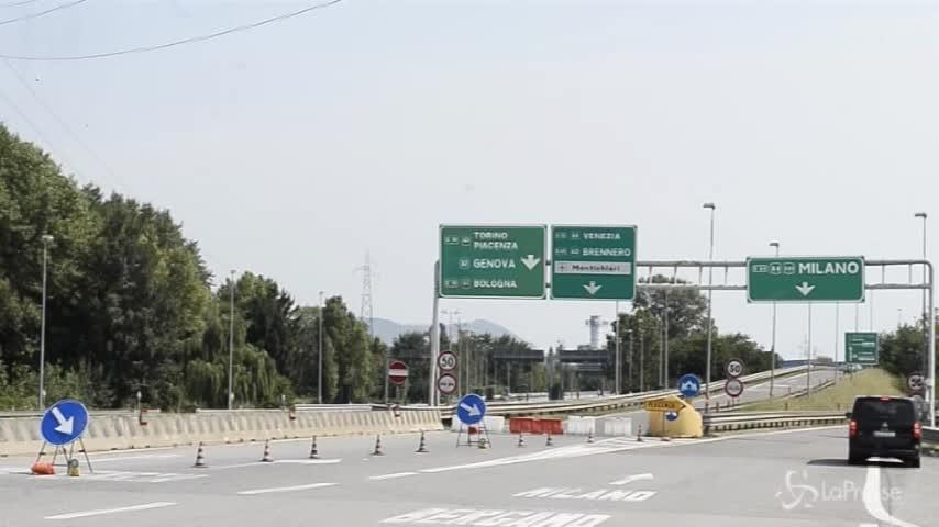 Brescia, chiuso svincolo tra A4 e A21 per prove di carico sulla struttura