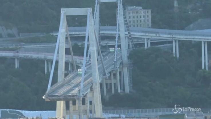 Genova, presentato piano demolizione ponte Morandi