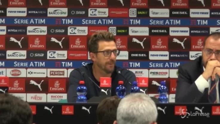 """Di Francesco: """"Non possiamo partire sempre ad handicap"""""""