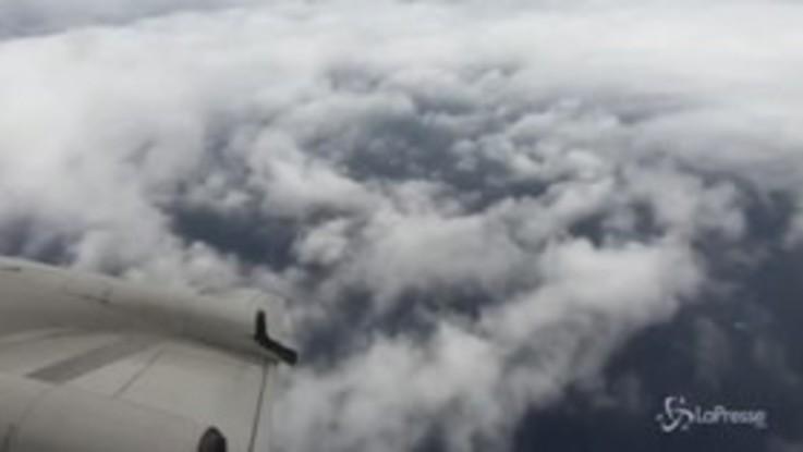 Usa, in volo sopra l'uragano Florence