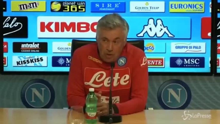"""Napoli, Ancelotti: """"Samp squadra ben organizzata. Champions? Girone difficile"""""""