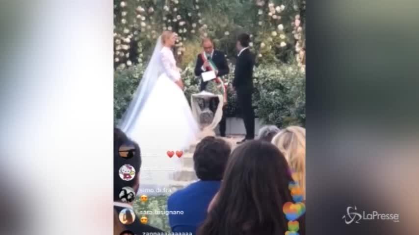 """Ferragni-Fedez sono moglie e marito, il momento del """"sì"""""""