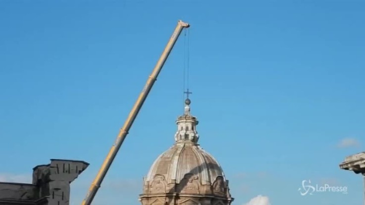 Crollo chiesa, a Roma copertura provvisoria a San Giovanni dei Falegnami