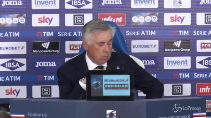 """Ancelotti: """"Primo tempo troppo negativo, non sempre si può rimontare"""""""