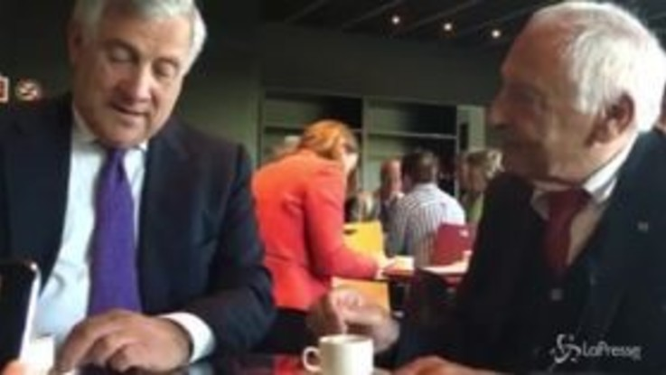 Copyright, Tajani e Mogol  spiegano la riforma davanti a un caffé