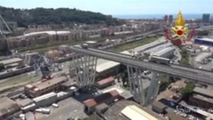Ponte Morandi: le tappe della demolizione