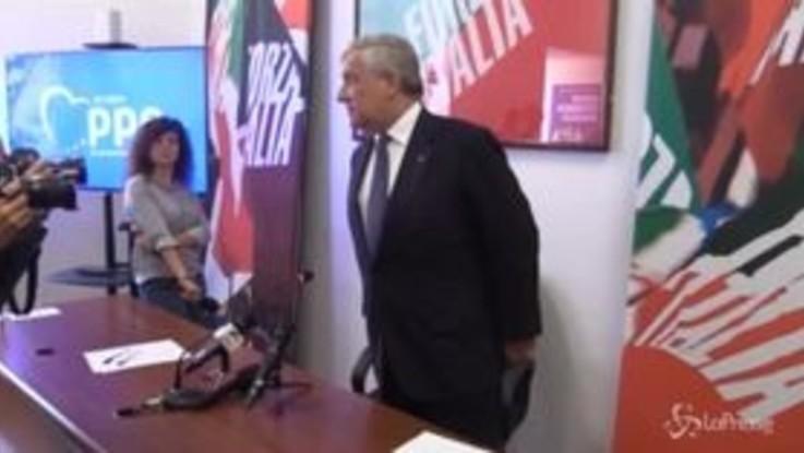 """Tajani: """"L'economia italiana salva grazie a Mario Draghi"""""""