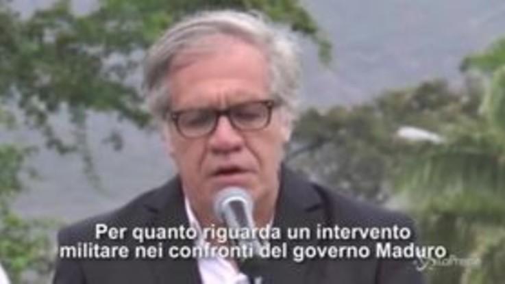 """Venezuela, Almagro: """"Non escludiamo intervento militare contro Maduro"""""""