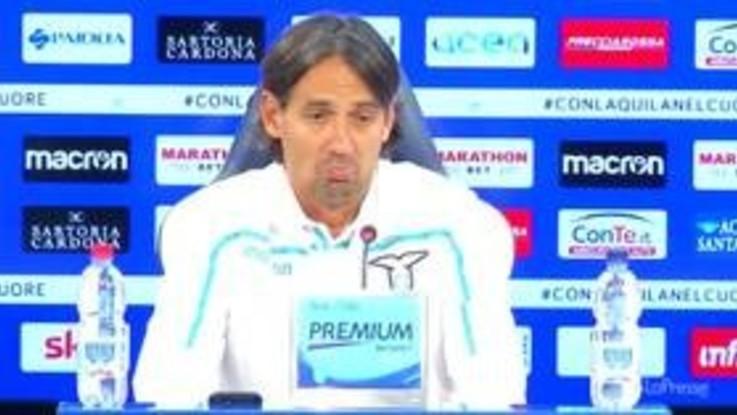 """Lazio, Inzaghi: """"Contro l'Empoli voglio una squadra umile, unita e compatta"""""""