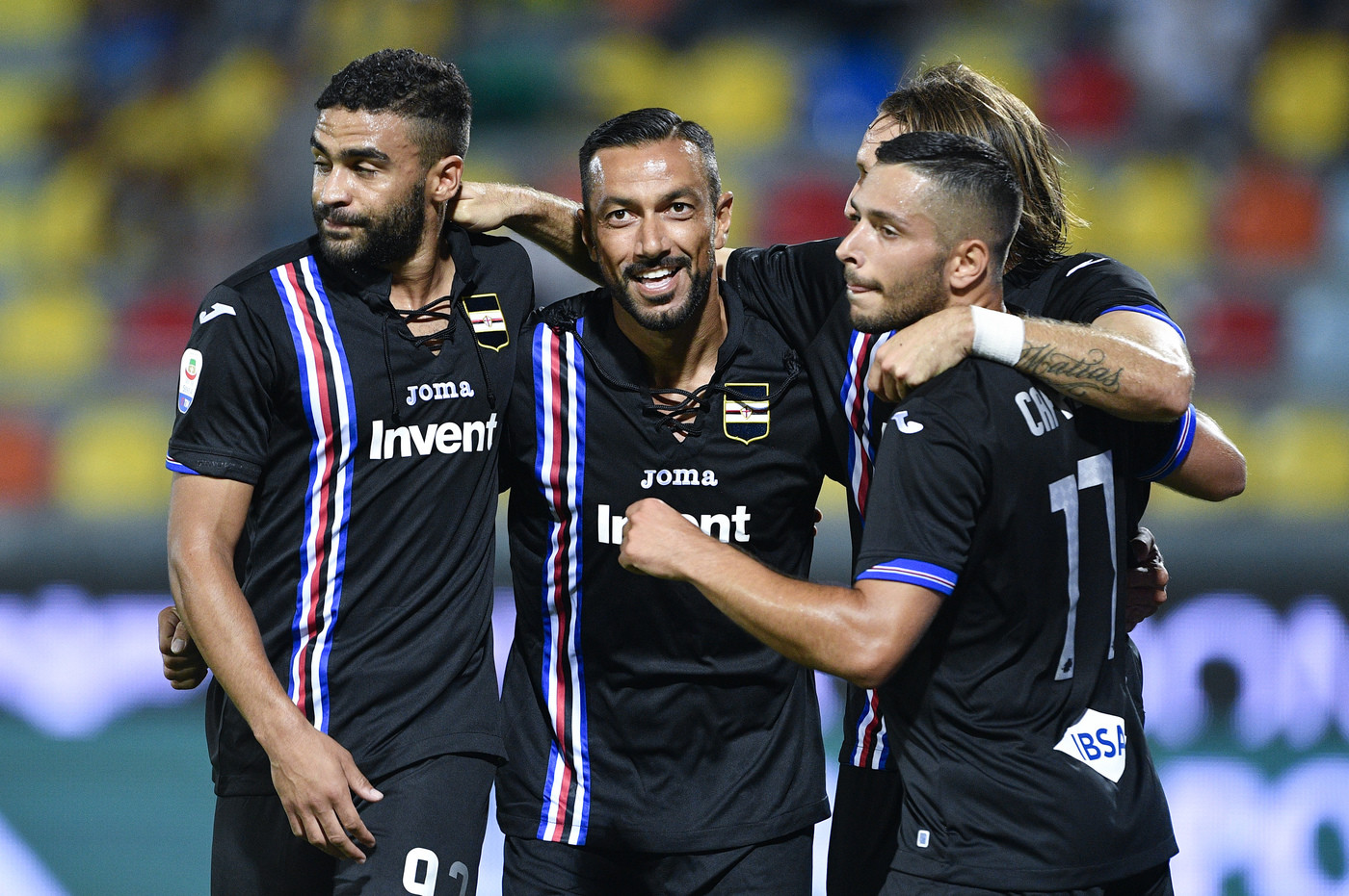 Serie A, Quagliarella-Defrel show: Samp travolge Frosinone 5-0
