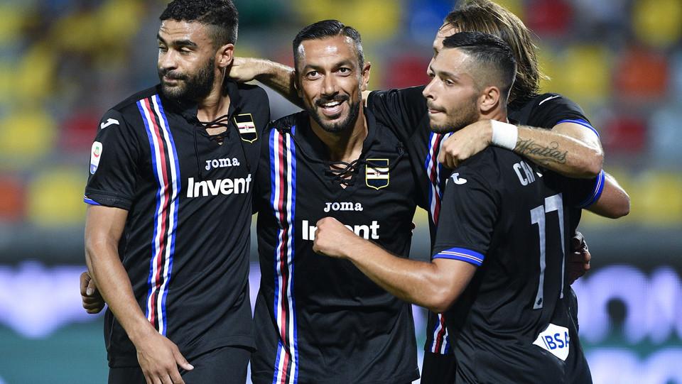 Esultanza di Fabio Quagliarella dopo il gol ©