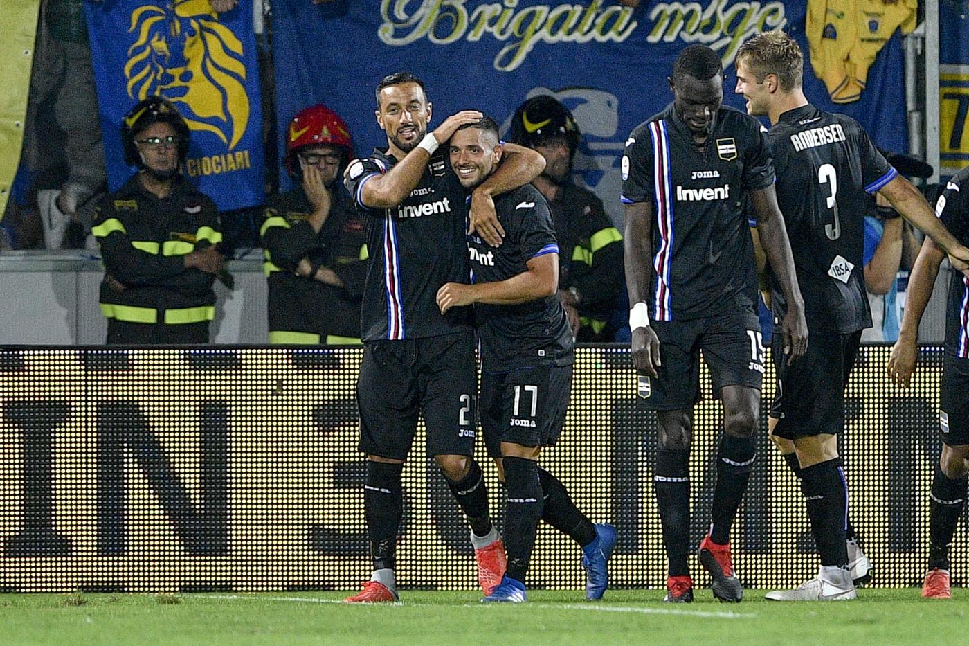 Serie A, Frosinone-Sampdoria: 0-5 | Fotoracconto