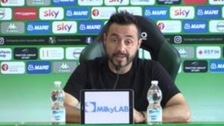 """Juve-Sassuolo, De Zerbi, """"Se pensiamo di non aver nulla da perdere, siamo dei perdenti"""""""