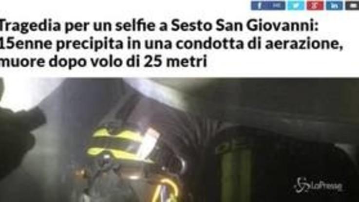Milano: cade in condotto aerazione, muore 15enne