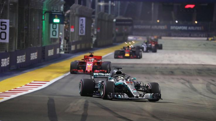 Gp Singapore: trionfa ancora Hamilton, Vettel terzo