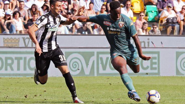 Serie A, Meita replica a De Paul: 1-1 fra Udinese e Torino