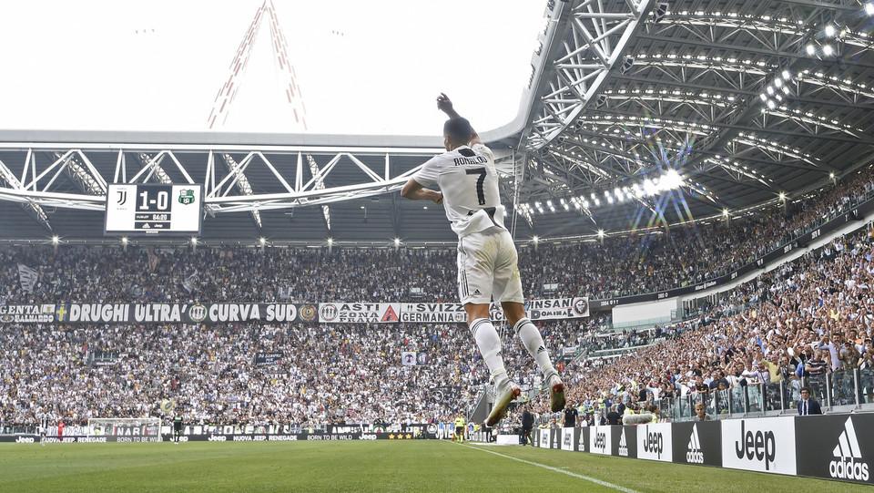 La gioia di Ronaldo dopo il suo secondo gol ©