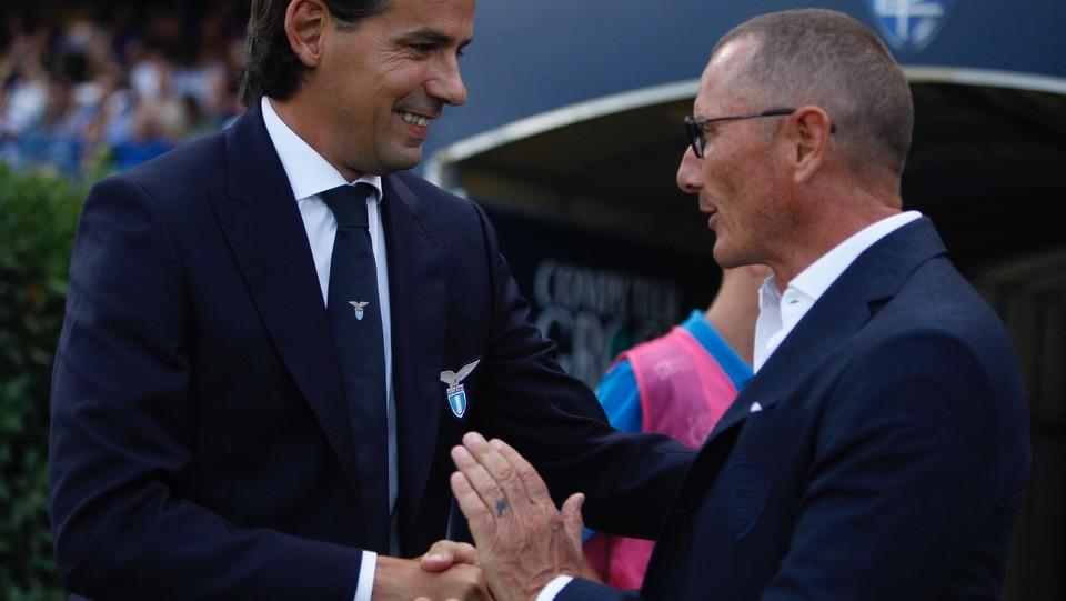 Gli allenatori Simone Inzaghi (Lazio) e Aurelio Andreazzoli (Empoli) ©