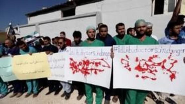"""Siria, la protesta dei medici: """"Vogliamo essere protetti"""""""