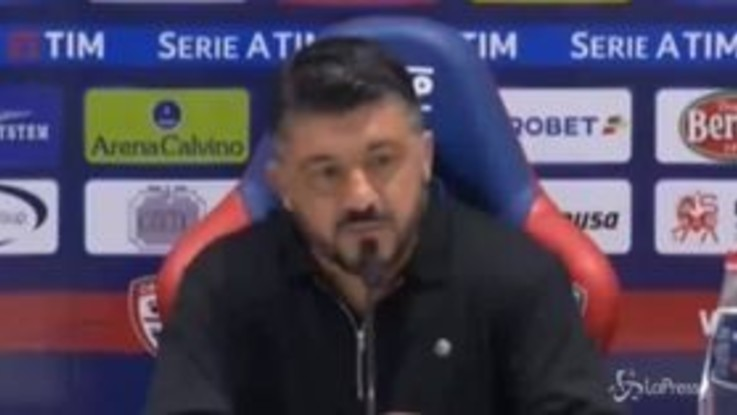 """Milan, Gattuso: """"Mentalità sbagliata nel primo tempo, dobbiamo crescere ancora tanto"""""""