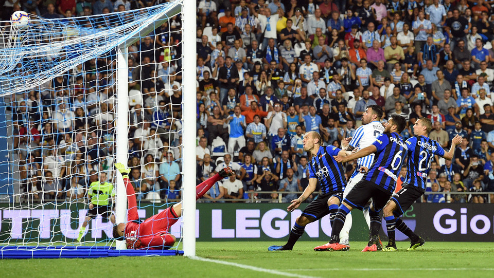 Petagna (Spal) realizza il gol 1-0 ©