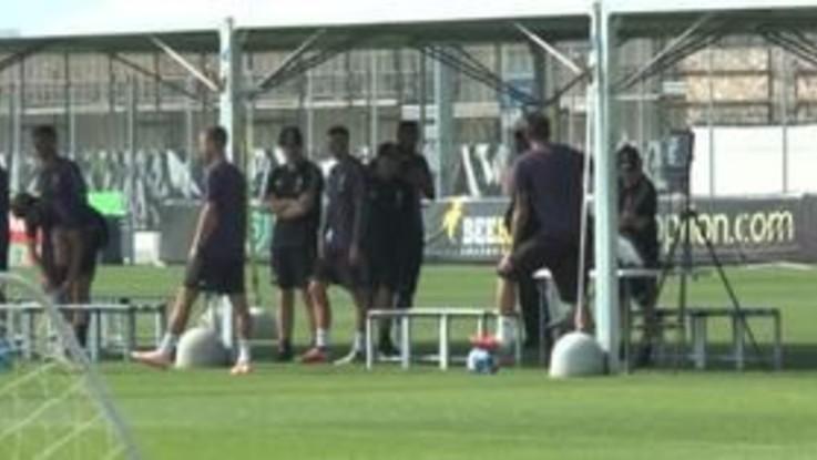 Champions, l'allenamento della Juventus prima della trasferta di Valencia